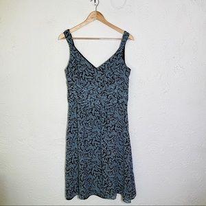 Ann Taylor vine print midi dress size 12